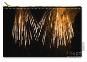 Shower Of Orange Colors Using Pyrotechnics Firework Carry-all Pouch