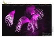 Showers Of Pink Color Splash With Firework  Carry-all Pouch