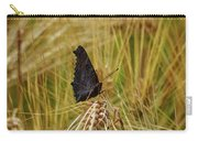 Showing The Dark Side. European Peacock On Barley Carry-all Pouch