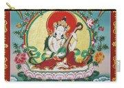 Shri Saraswati - Goddess Of Wisdom And Arts Carry-all Pouch