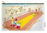 Retro Shuffleboard Art From The 1960's Carry-all Pouch