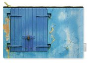 Shuttered Blue Carry-all Pouch