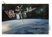 Shuttle Docked At Space Station Carry-all Pouch