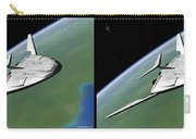 Shuttle X-2010 - Gently Cross Your Eyes And Focus On The Middle Image Carry-all Pouch