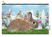 Shy Brown Dwarf Bunny Portrait Carry-all Pouch