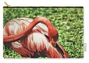 Shy Flamingo Carry-all Pouch