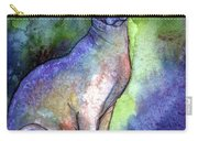 Shynx Cat 2 Painting Carry-all Pouch by Svetlana Novikova