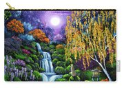 Siamese Cat By A Cascading Waterfall Carry-all Pouch