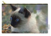 Siamese Cat Hiding Carry-all Pouch