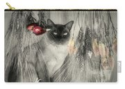 Siamese Cat In Black And White Carry-all Pouch