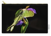 Siberian Iris And Luna Moth Carry-all Pouch