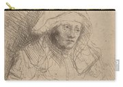 Sick Woman With A Large White Headdress (saskia) Carry-all Pouch