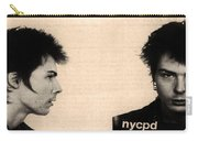 Sid Vicious Mugshot Carry-all Pouch by Bill Cannon