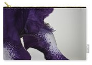 Side View Purple And White Iris Carry-all Pouch