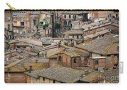 Siena Colored Roofs And Walls In Aerial View Carry-all Pouch