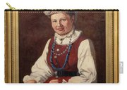 Sigfrid August Keinanen, Woman Standing. Carry-all Pouch
