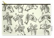 Sign Language Alphabet Carry-all Pouch