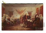 Signing The Declaration Of Independence Carry-all Pouch by John Trumbull