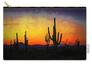 Sihouette Sunrise In The Sonoran Carry-all Pouch
