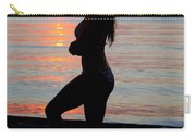 Silhouette Of A Fit Woman  Carry-all Pouch
