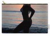 Silhouette Of A Fit Woman In Bikini  Carry-all Pouch