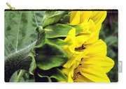 Silhouette Of A Sunflower Carry-all Pouch