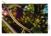 Silhouette Of Climbing Vine On A Sunny Afternoon Carry-all Pouch