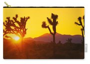 Silhouette Of Joshua Trees Yucca Carry-all Pouch
