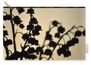 Silhouette Of Lilies Of The Valley 2 Carry-all Pouch