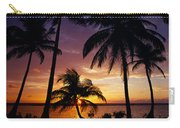 Silhouette Of Palm Tree On The Coast Carry-all Pouch