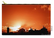 Silhouette Of Rome Against A Sunset Sky Carry-all Pouch