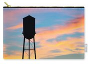 Silhouette Of Small Town Water Tower Carry-all Pouch