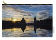 Silhouette Of Stronghold And Sunset. Pskov Kremlin. Russia Carry-all Pouch