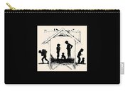 Silhouette Of The Book From The Village Of Memories 1882 5 Elizabeth Merkuryevna Boehm Endaurova Carry-all Pouch