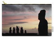 Silhouette Of The Moai Carry-all Pouch