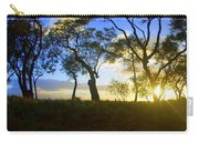 Silhouette Of Trees Carry-all Pouch