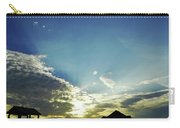 Silhouette Pier 60 Sunset Carry-all Pouch