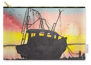 Grounded Shrimp Boat Carry-all Pouch