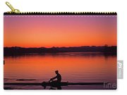 Silhouetted Man Rowing Carry-all Pouch