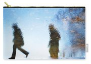 Silhouettes In Blue Sky Carry-all Pouch