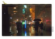 Silhouettes In The Rain - Umbrellas On 42nd Carry-all Pouch