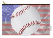 Silk Stars And Stripes Baseball Carry-all Pouch