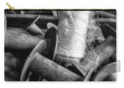 Silk Thread Spools Bw Carry-all Pouch