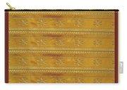 Silken Gold Border Stripes With Jewel Imprint Elegant Border Energy Healing Art By Navinjoshi Finear Carry-all Pouch