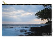 Silky Waves At Dusk Carry-all Pouch