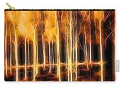 Silver Birches Flaming Abstract  Carry-all Pouch