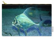 Silver Fish Carry-all Pouch by Svetlana Sewell