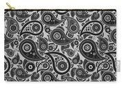 Silver Gray Paisley Design Carry-all Pouch