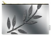 Silver Leaves Abstract Carry-all Pouch