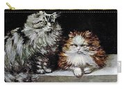 Silver Orange And White Persians Carry-all Pouch